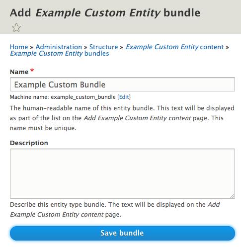 ECK Create bundle on entity screenshot