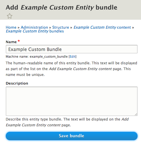 ECK Create bundle on entity screenshot