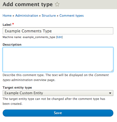 Create comment type screenshot