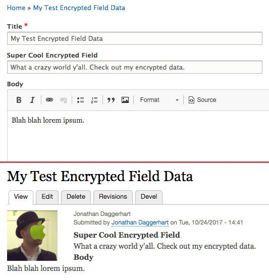 How to Encrypt Field Data in Drupal 8 - Daggerhart