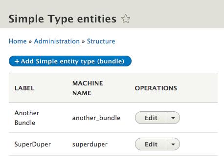 entity type list builder