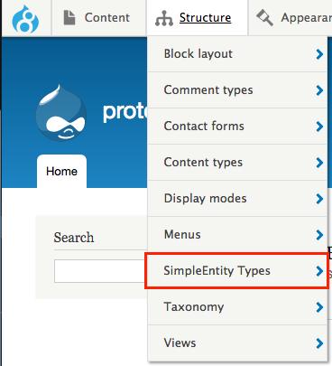 entity bundle management menu item