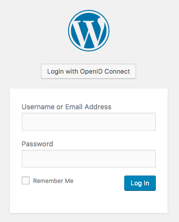 Screenshot of login page when plugin is enabled.