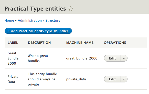 Drupal 8 Content Entity Bundles - Part 4: Practical Content Entity